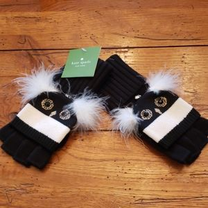 NWT - KATE SPADE Penguin Pop-Top Mittens